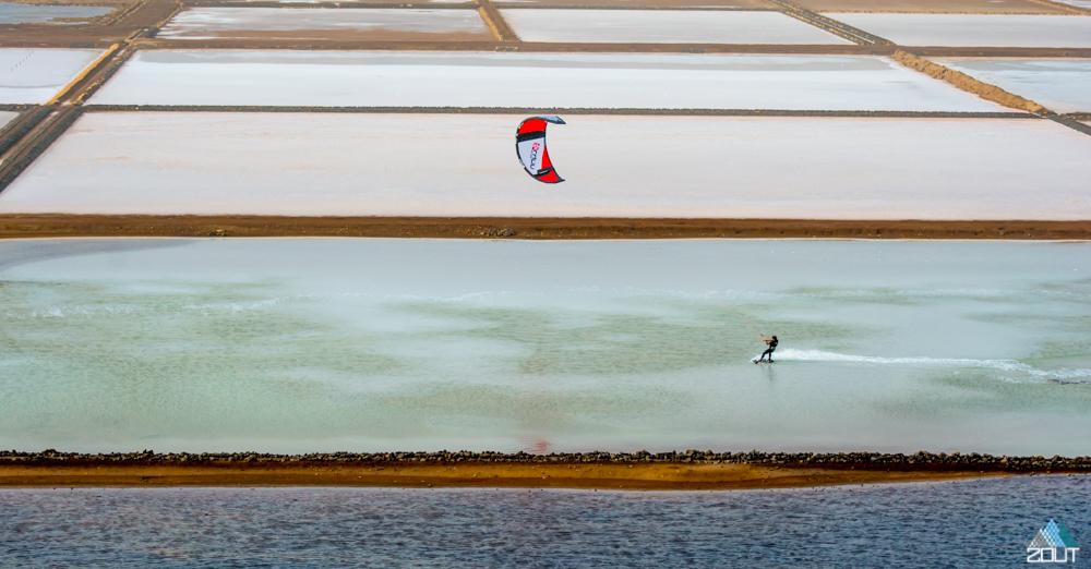 Kitesurfing Las Salinas, Sal, Cape Verde