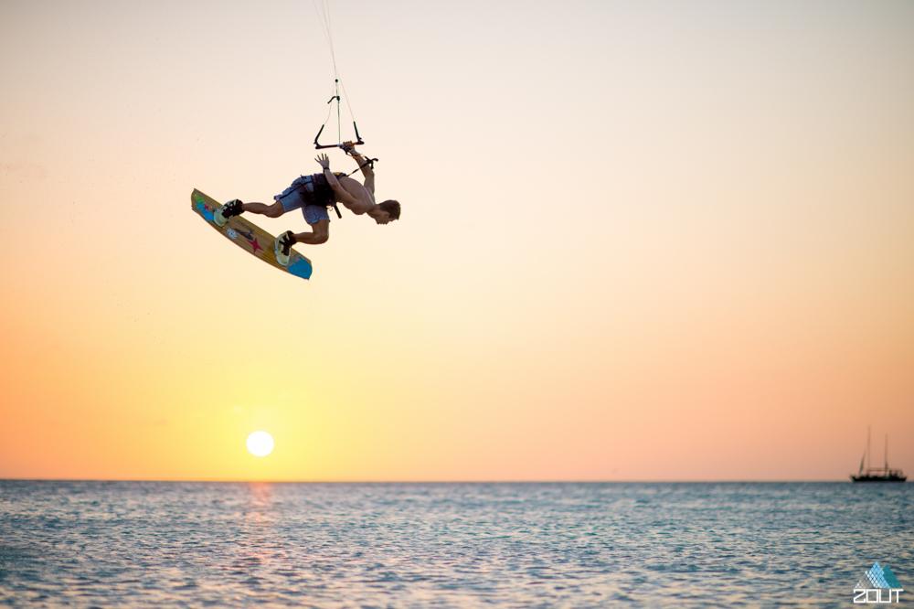 Kiteboarding Aruba Caribbean Zout Fotografie