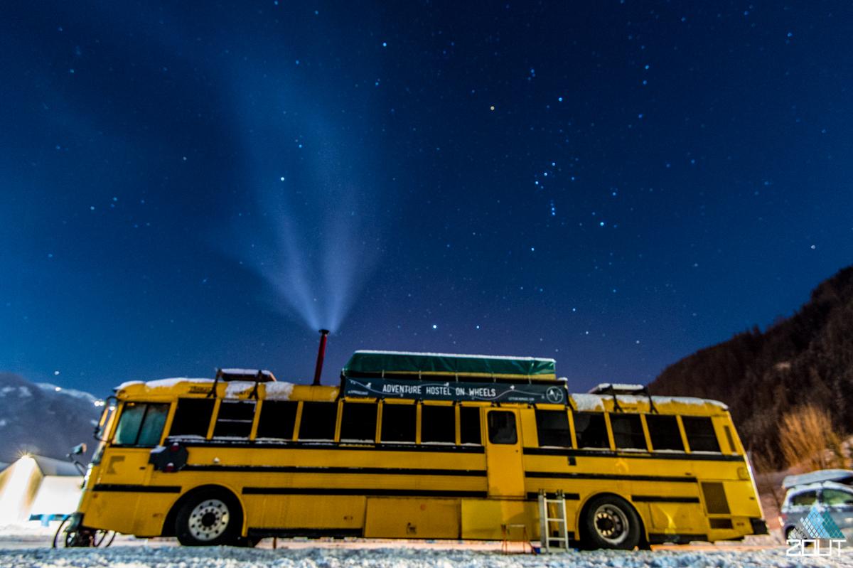 Nomads Bus Winter Oostenrijk