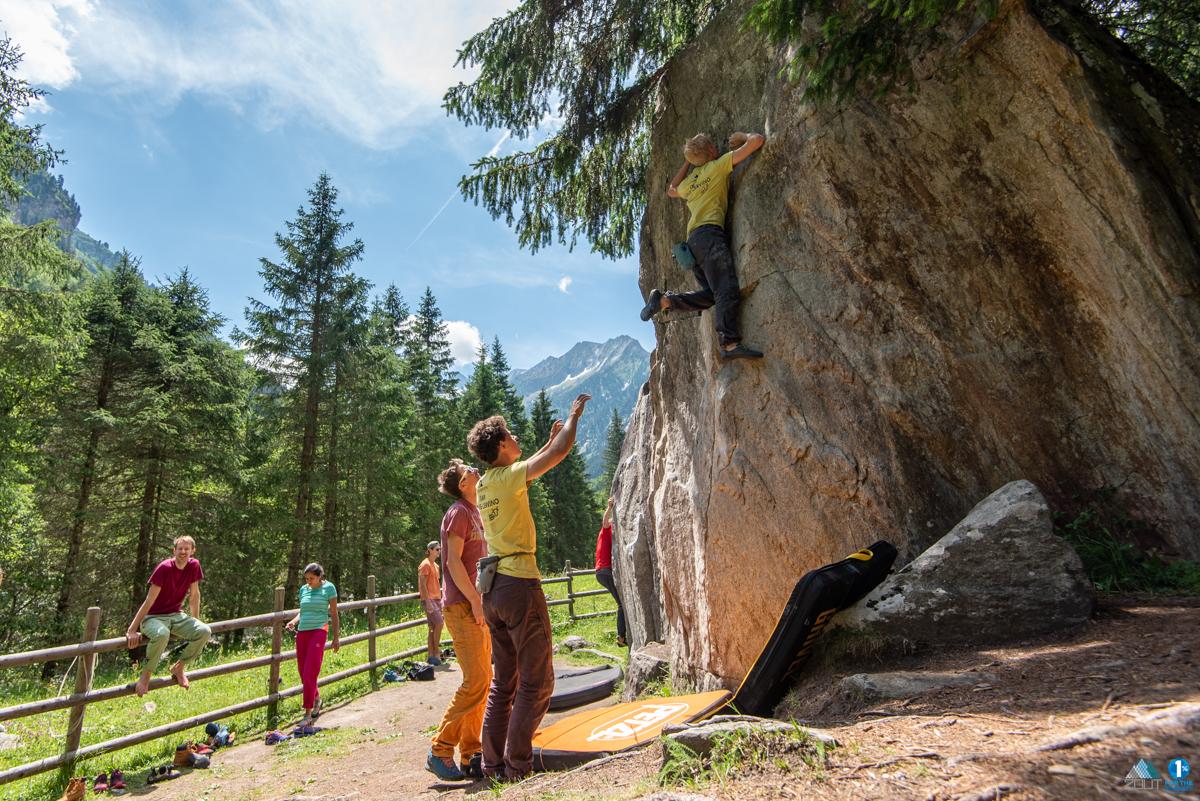 Jens Peters Boulderen Zillertal Oostenrijk