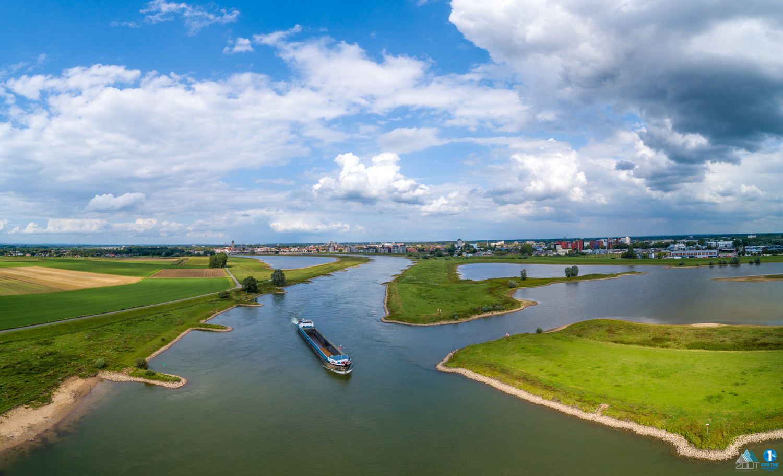 stad Deventer skyline drone lucht fotografie