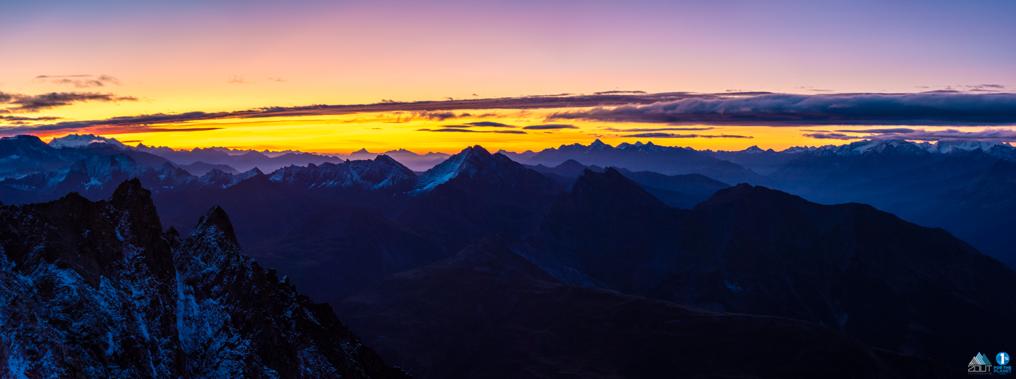 Sunset Alps Torino hut Italie Mt Blanc