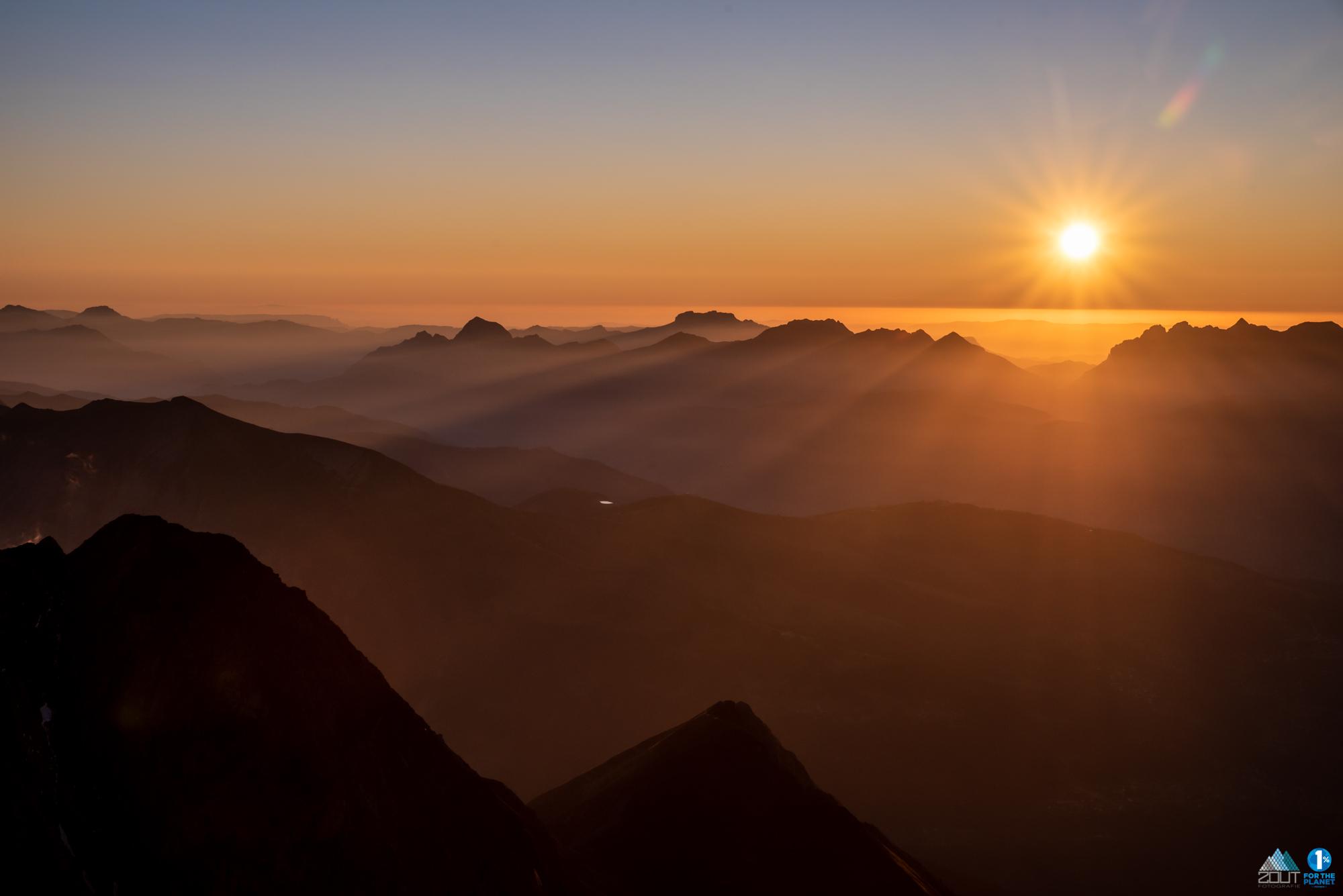 Sunset Alps Zonsondergang Alpen