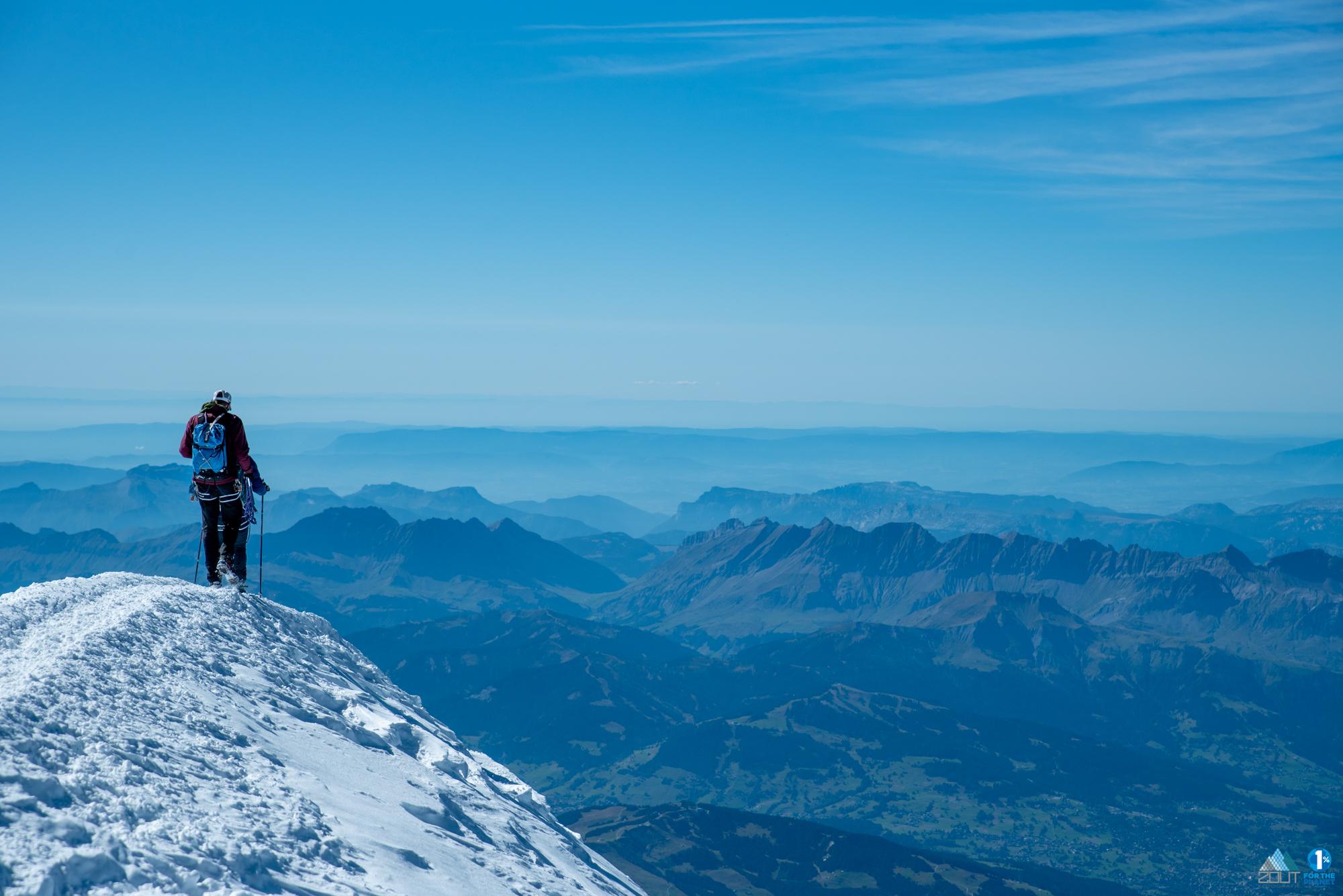 Andrea MAson Summit Mont Blanc 4810