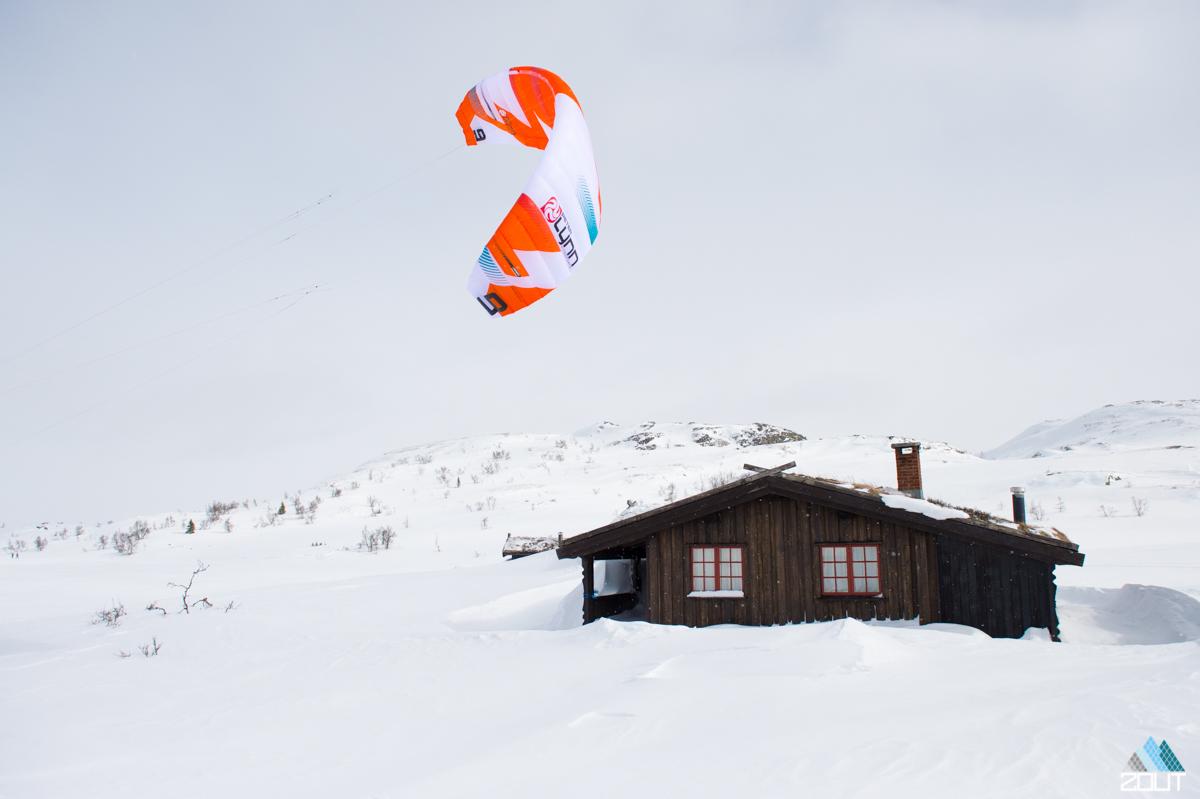 Snowkiten Noorwegen Snowboard Zoutfotografie