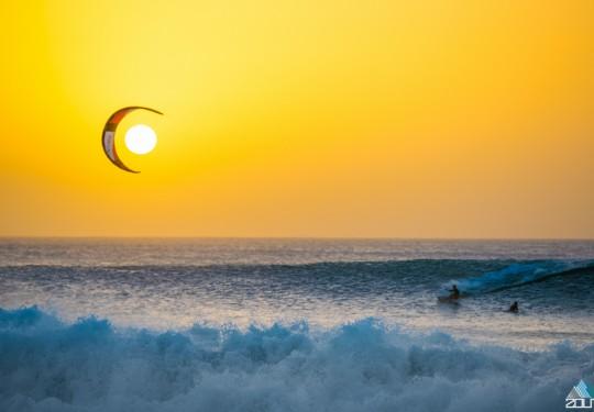 Kitesurfing Kaap Verdie