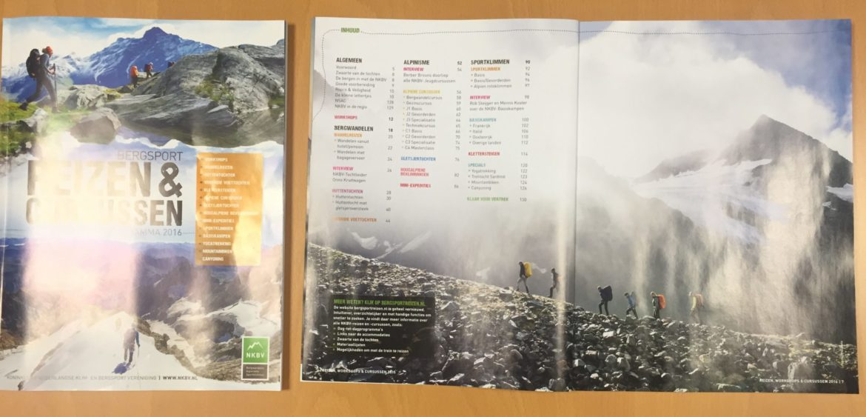 NKBV Bergsportreizen magazine 2016