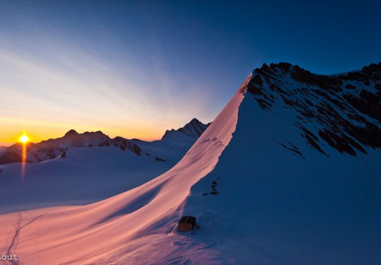 Monch berghut Zwitserland