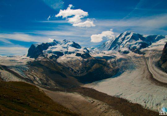Onderweg naar beklimming van Dufourspitze (4634m)