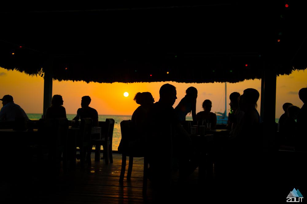 sunset aruba