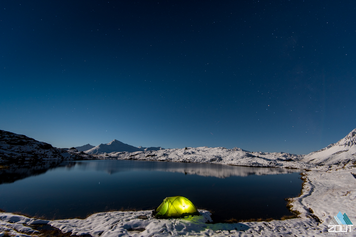 winterkamperen Lac Blanc Vanoise national park