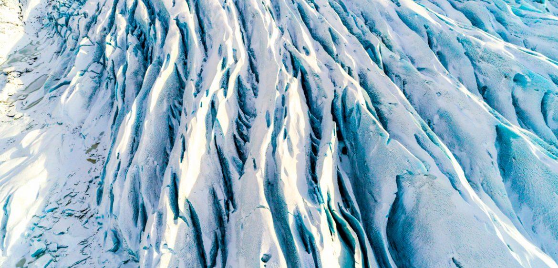 Gletsjerspeten IJsland Blauw ijs Zout fotografie