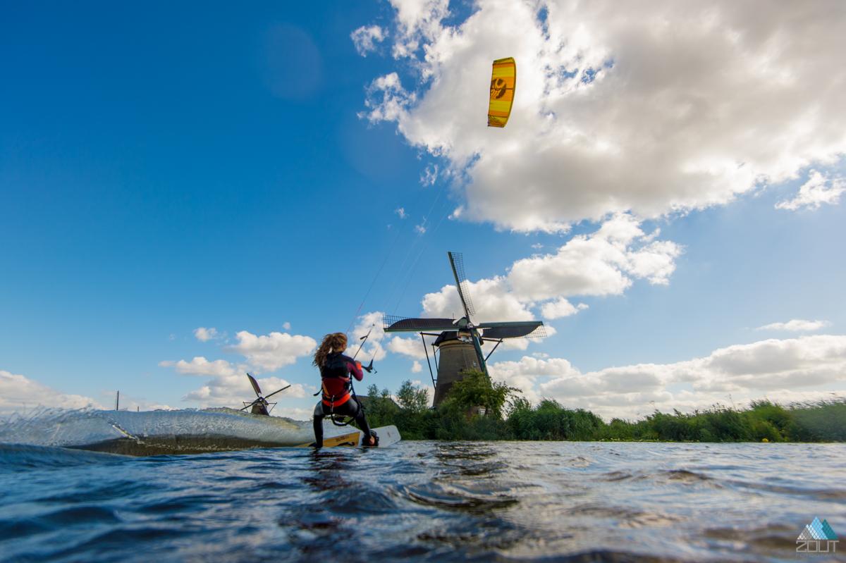 Kiteboarden Zaanse Schans