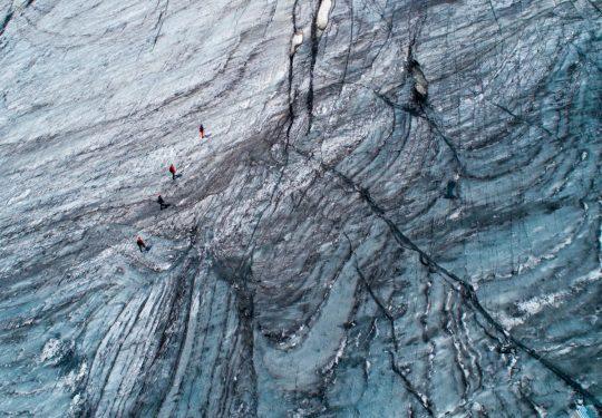 Touwgroep op gletsjer C1 alpiene cursus Rein Rijke Zout Fotografie