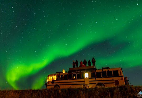 Noorderlicht met de Nomads Bus Rein Rijke Zout Fotografie