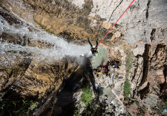 Canyoning abseilen Ecrins Frankrijk