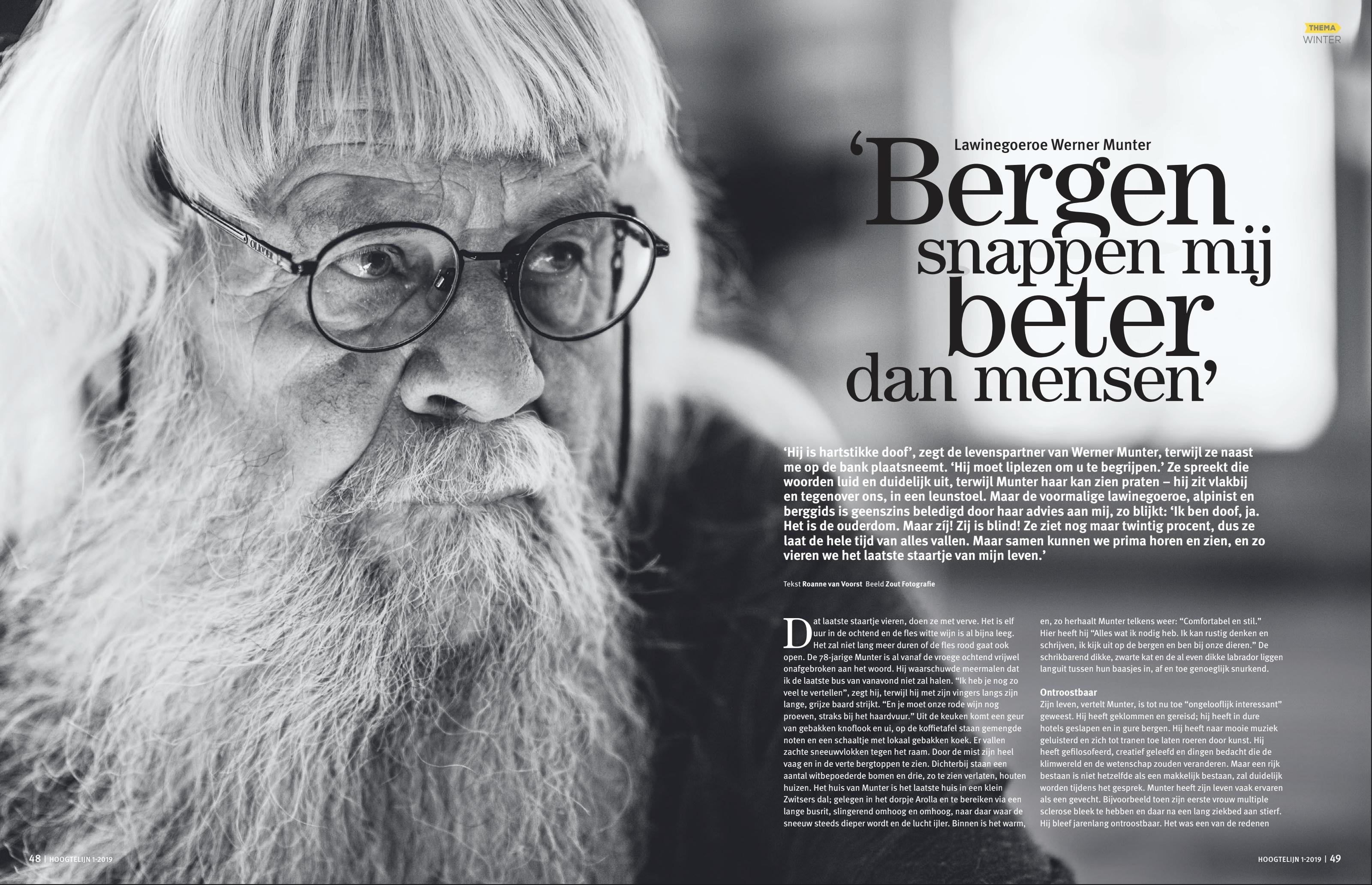Interview Hoogtelijn Werner Munter