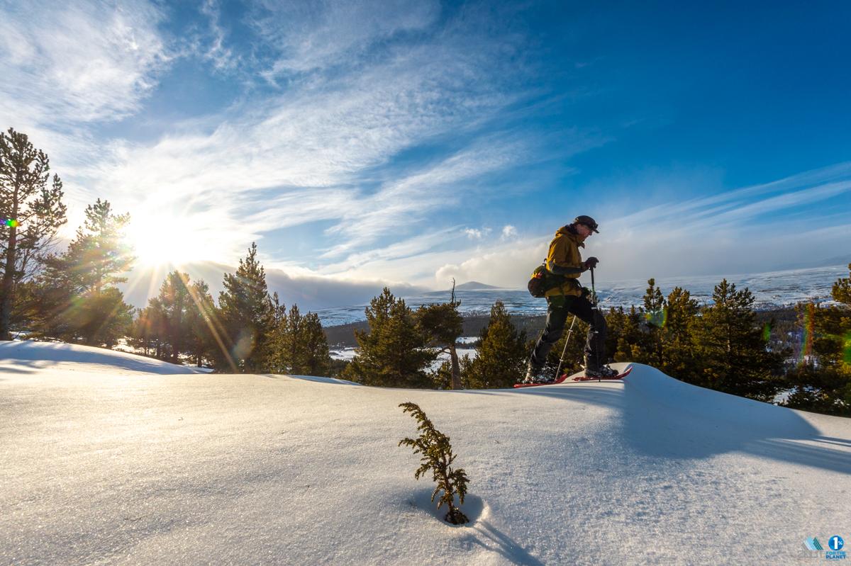 Sneeuwschoenwandelen Noorwegen outdoor fotograaf