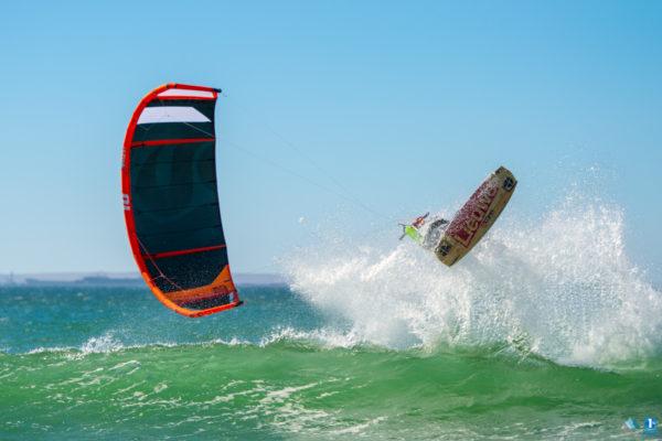 Extreme sport fotografie kitesurfen