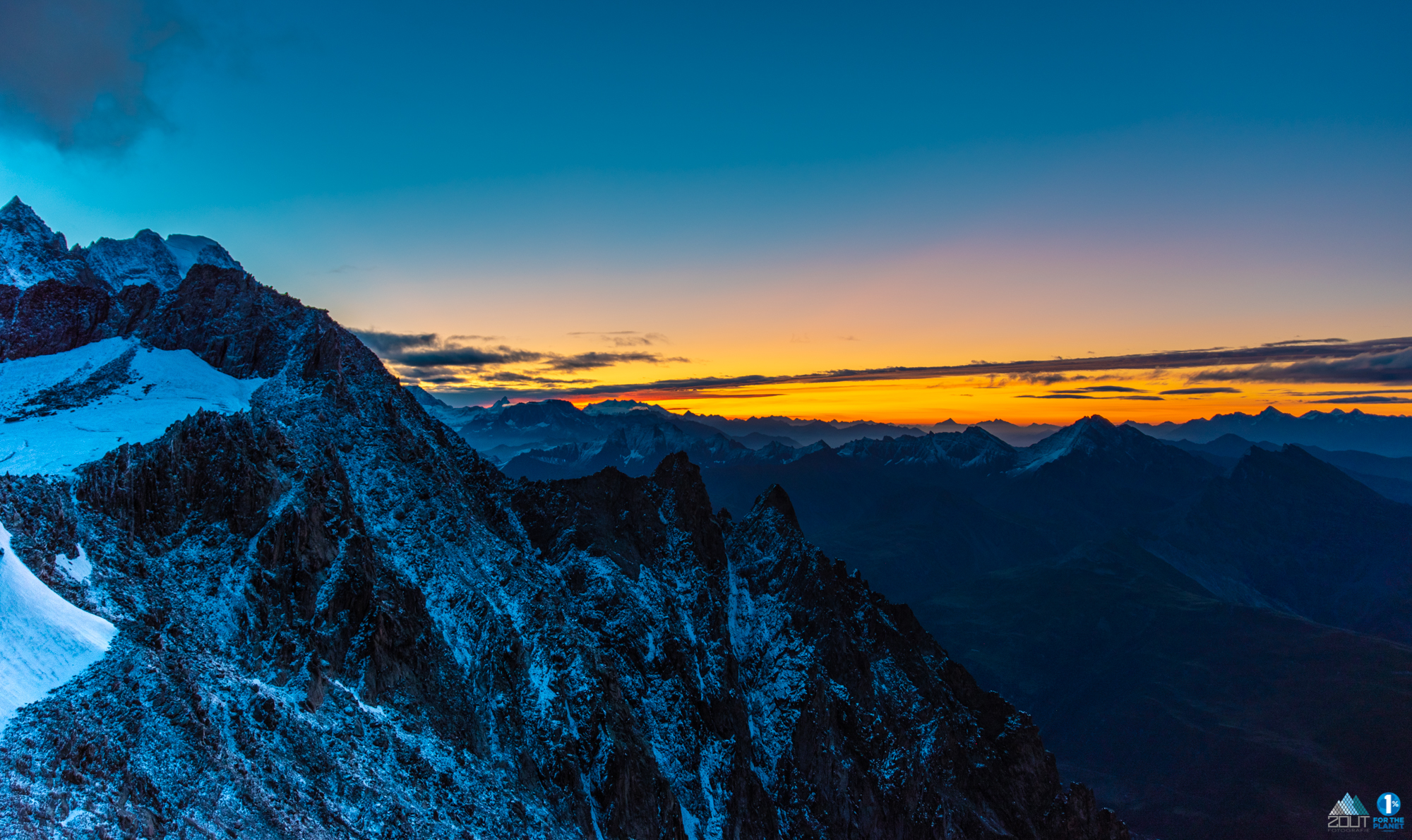 Sunset Alps Torino hut Italie Mt Blanc