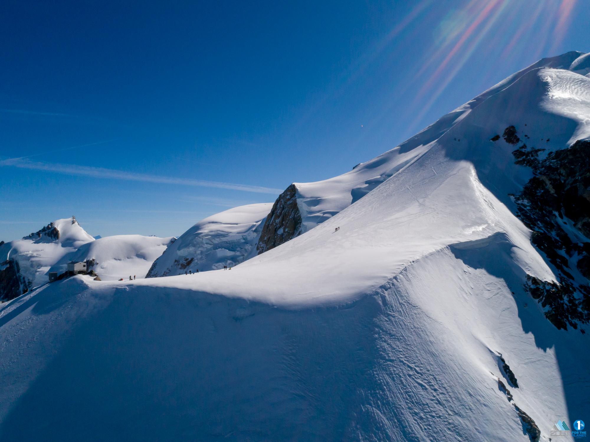 Beklimming Mt Blanc Normaal route foto