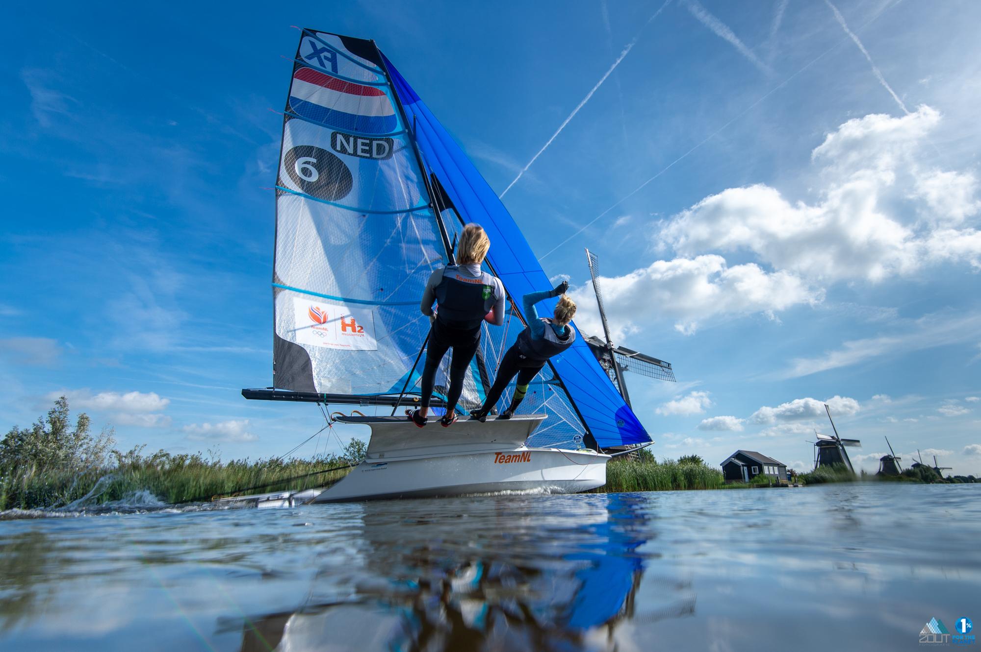 zeilen kinderdijk Odile van Aanholt Bart Lambriex TeamNL Missie H2