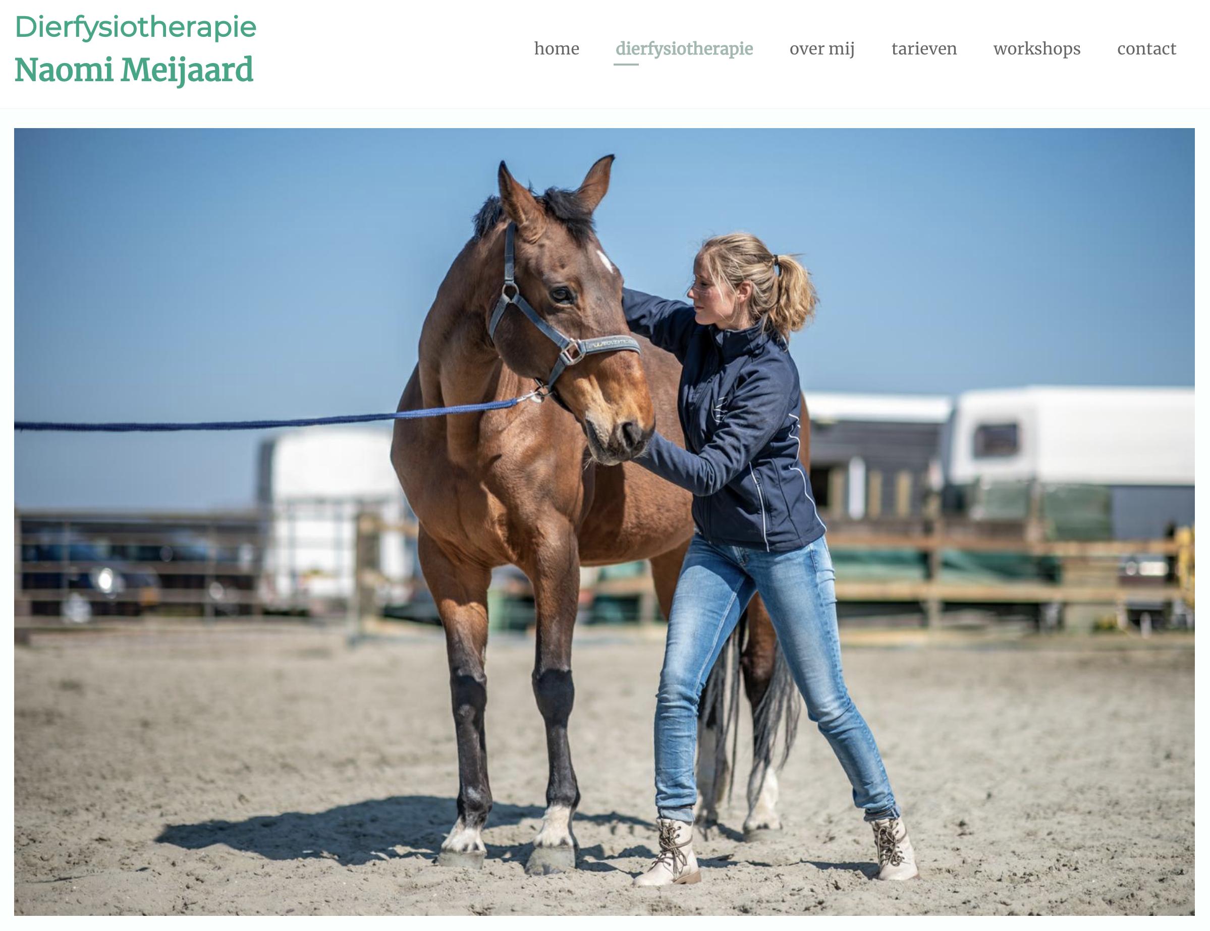 Fotografie dierenfysiotherapie naomi meijaard