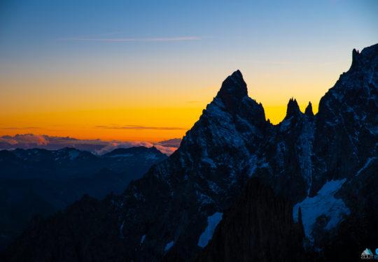 Zonsondergang Italiaanse alpen