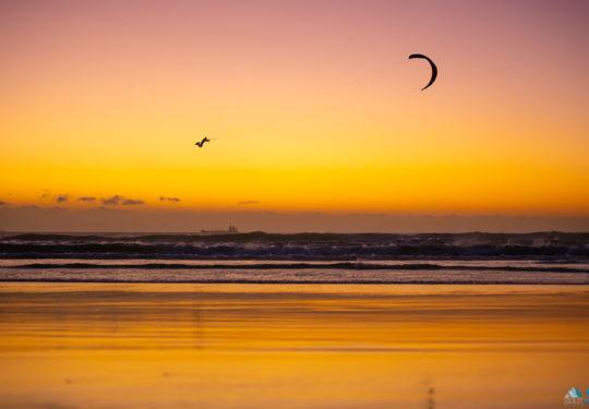 Hoge sprong Kiteboarding Kaapstad