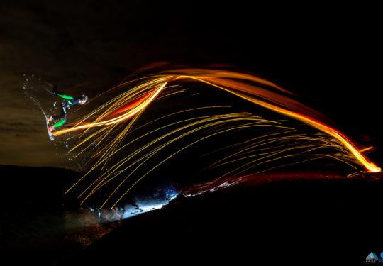Kitesurffotografie met staalwol en lange sluitertijden