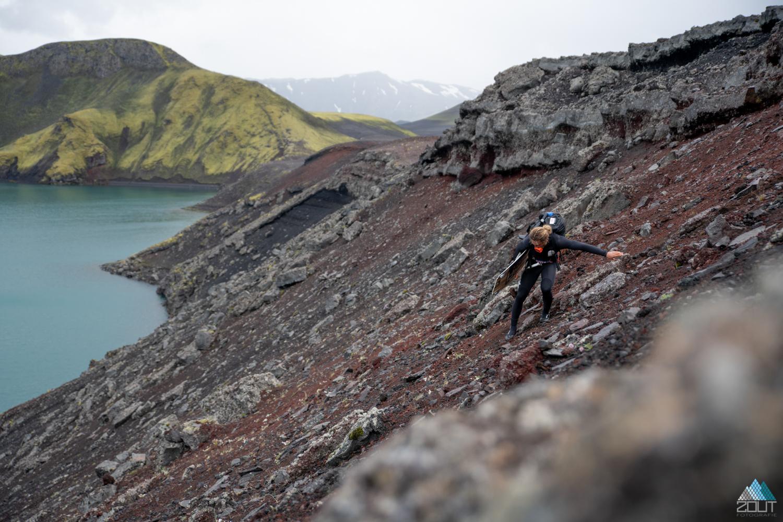 fotograaf rein rijke roderick Pijls kitesurfend vulkaankrater the last line