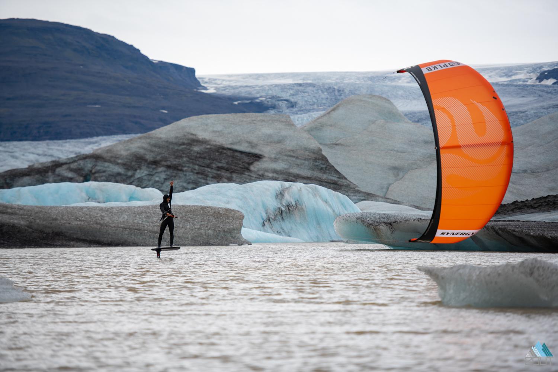 Roderick fotograaf rein rijke Pijls kitesurfend ijsbergen