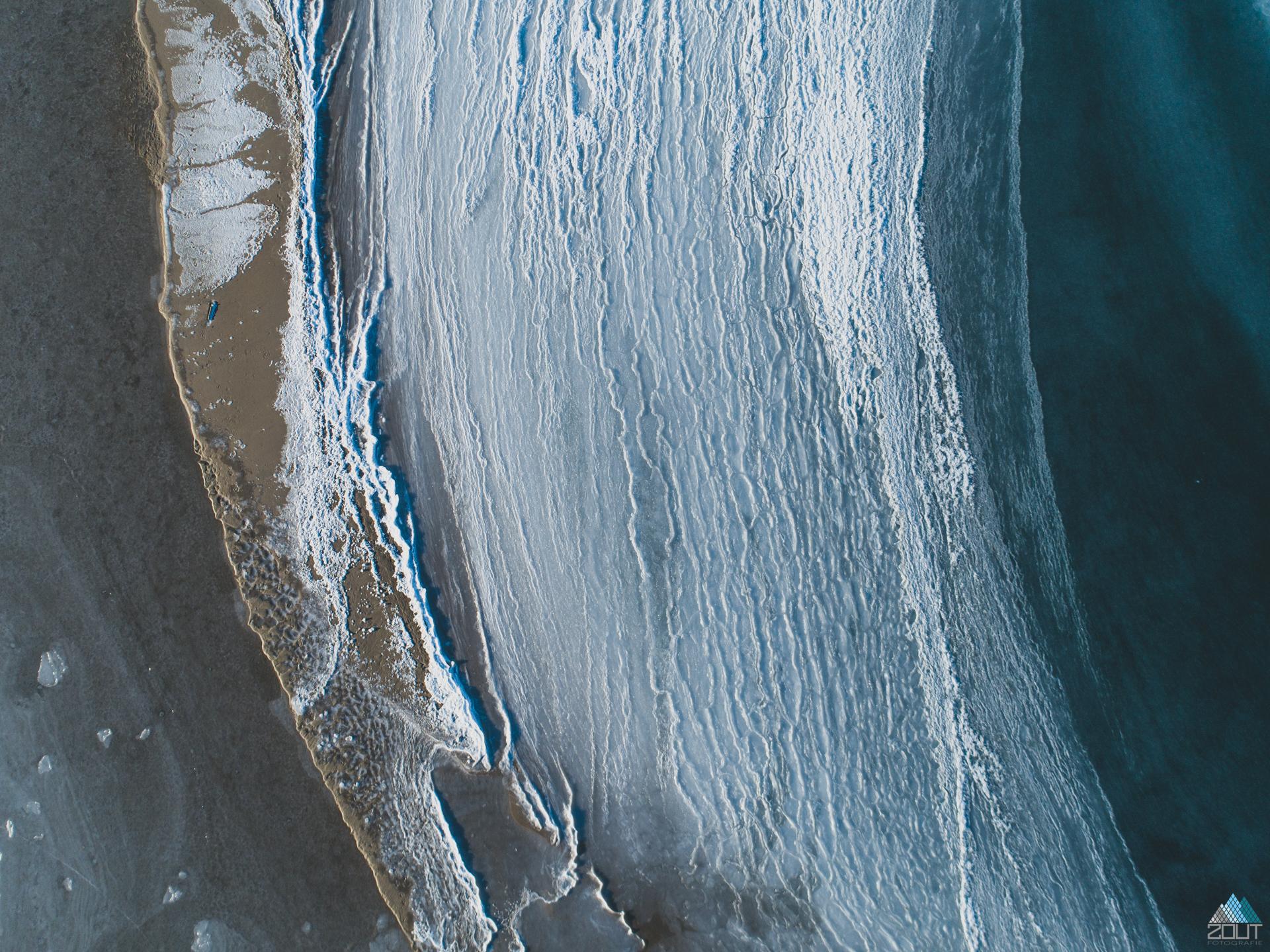 Zandmotor winter abstract Zout Fotografie