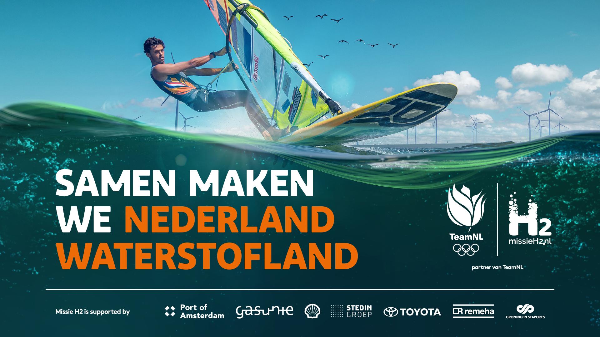 Kiran Badloe Missie H2 waterstof windsurfen